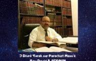 Divré Torah Parachat Mass'é - Rav David Pitoun
