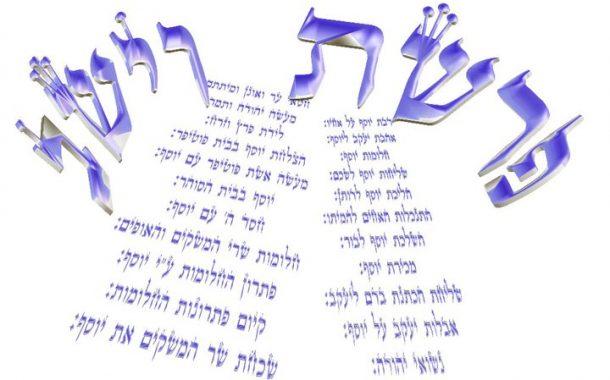 Parashat Vayéshev - 5775 - Yéhouda Moshé Charbit