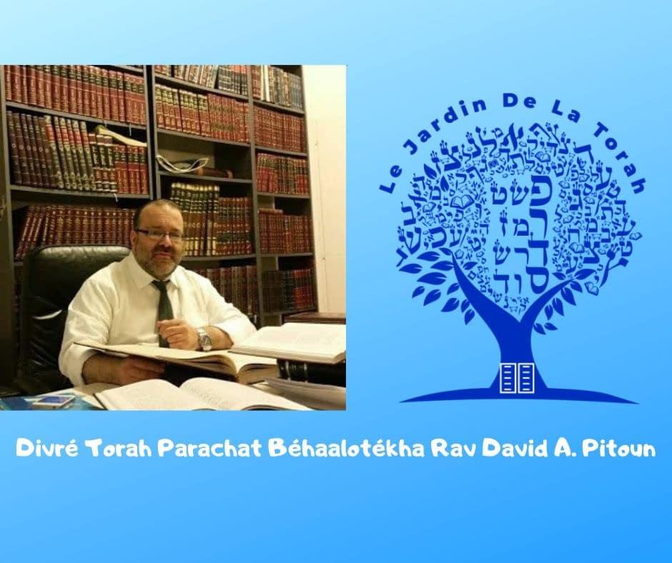 Divré Torah Parachat Béhaalotékha - Rav David Pitoun