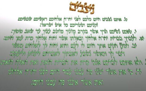 Parachat Nitsavim (5775) Yéhouda Moshé Charbit