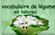Les légumes en hebreu