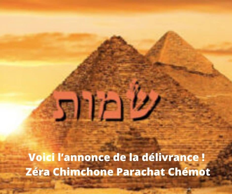 Voici l'annonce de la délivrance ! Zera Chimchone Parachat Chémot