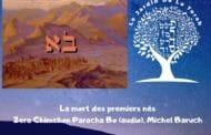Zéra Chimchon Parachat Bo La mort des premiers nés. Michel Baruch