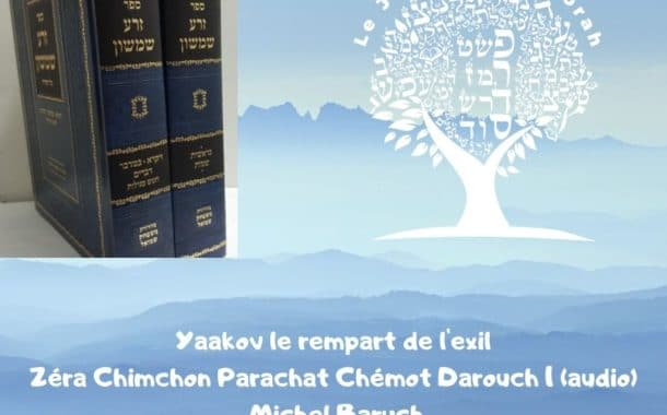Zéra Chimchon Parachat Chémot Darouch 1 (audio) Michel Baruch