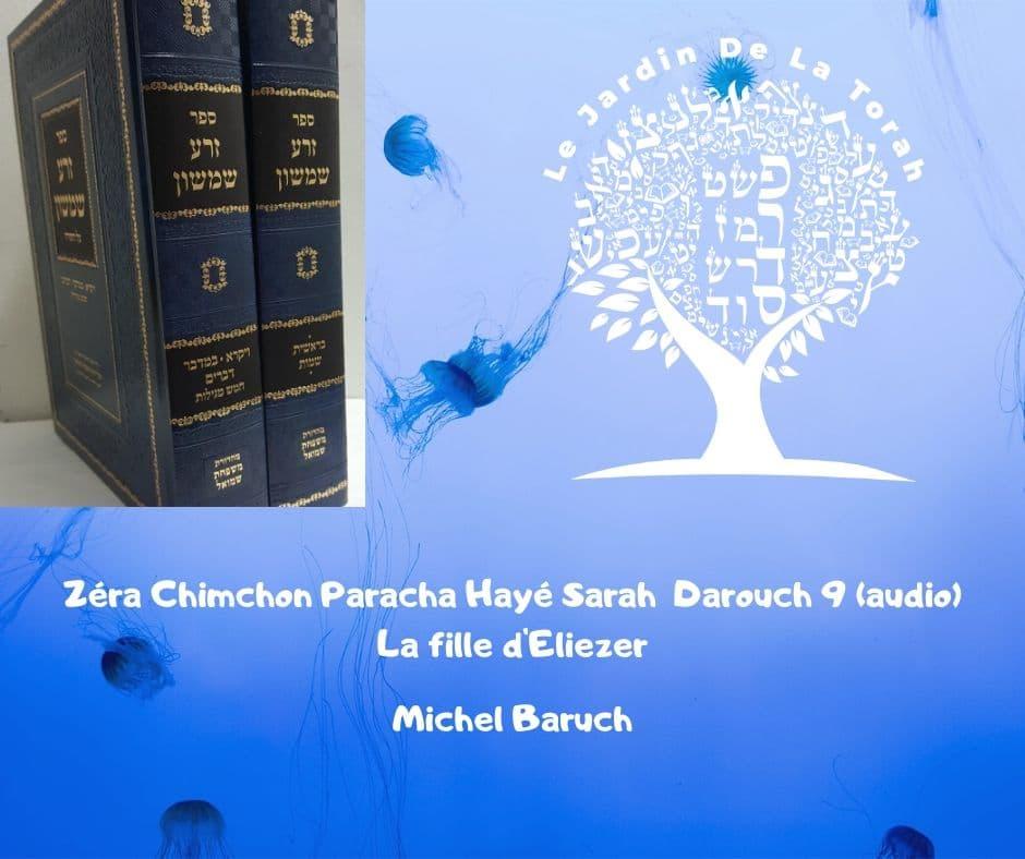 Zéra Chimchon - Parachat Hayé Sarah.  Darouch 9 (audio) Michel Baruch