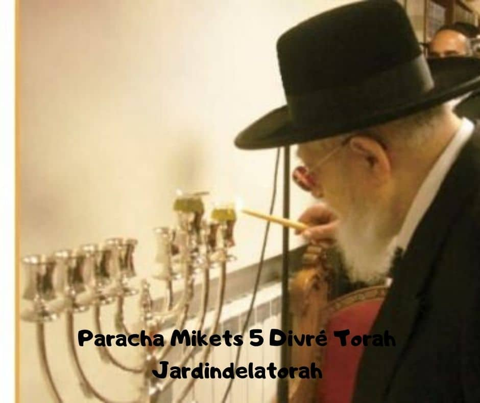 Paracha Mikets 5 Divré Torah par Jardindelatorah