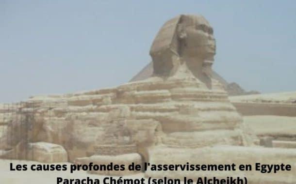 Causes profondes de l'asservissement en Egypte. Paracha Chémot Alsheikh