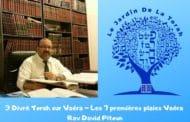 Trois Divré Torah Parashat Vaéra - Les 7 premières plaies Vaéra