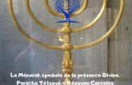 La Ménorah symbole de la présence Divine. Paracha Tétsavé