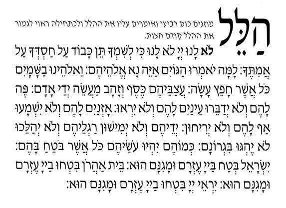 Hallel de Pessah - Approfondissement par Michel Baruch