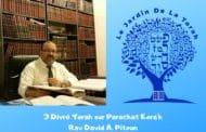 3 Divré Torah Paracha Kora'h - Rav David Pitoun