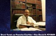 Divré Torah Paracha Choftim - Rav David Pitoun
