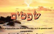 Préparation aux Yamim Noraïm ou à la guerre sont comparables. Chofétim