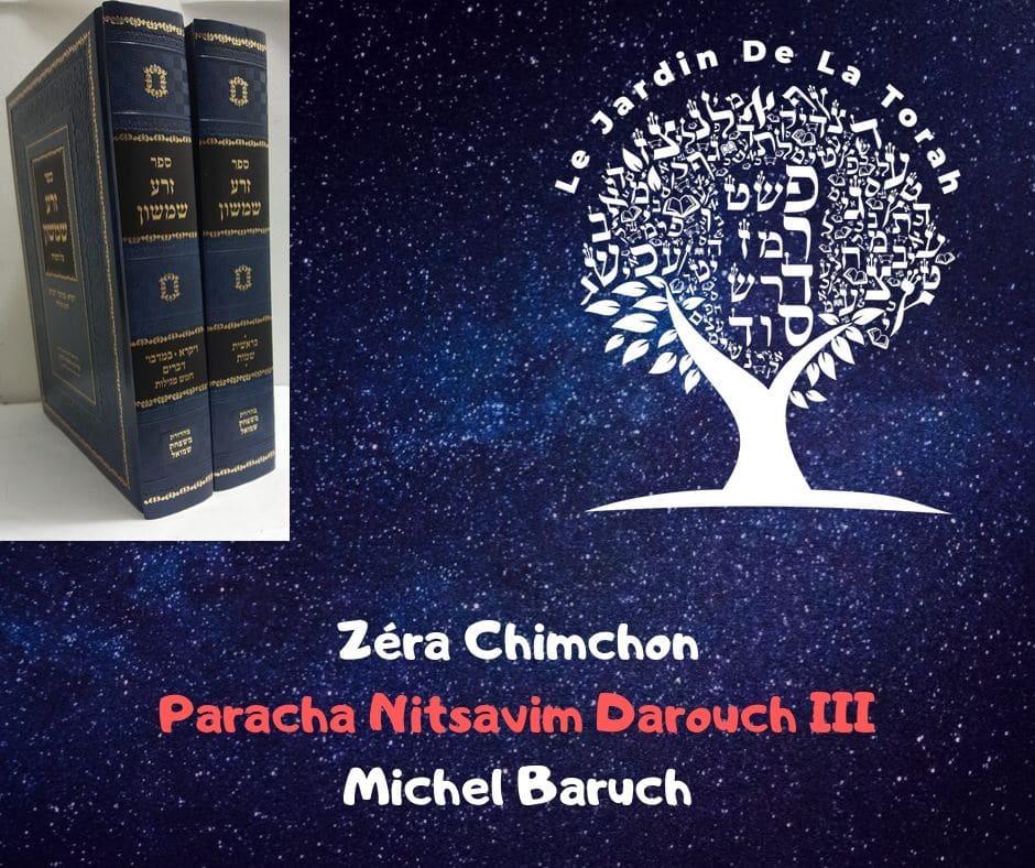 Zéra Chimchon Paracha Nitsavim Darouch 3 (écrit) - Torah Lichma