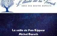 La veille de Yom Kippour. Michel Baruch