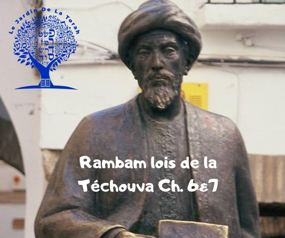 Rambam: Hilkhot Téchouva Ch. 6&7. Explications sur Roch Hachana
