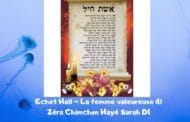Zéra Chimchon Echet Haïl (1) Parachat Hayé Sarah. Michel Baruch