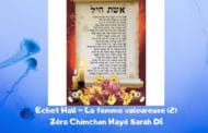 Zéra Chimchone Echet Haïl (2) Parachat Hayé Sarah. Michel Baruch