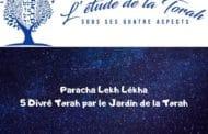 Paracha Lekh Lékha - Jardindelatorah - 5 Divré Torah