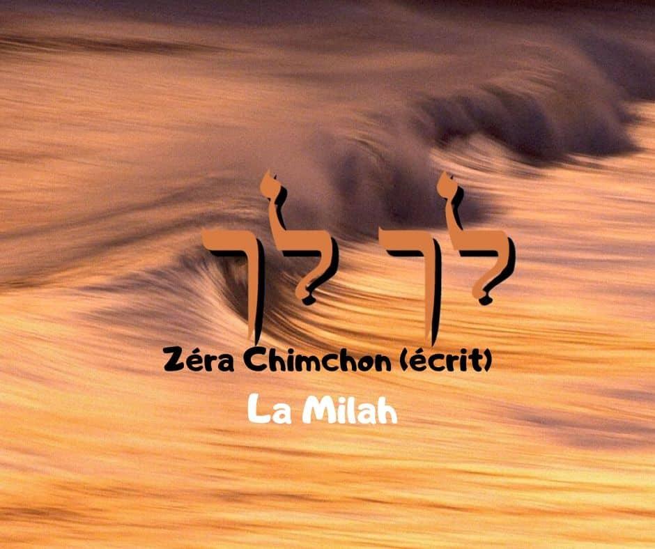Zéra Chimchone Paracha Lekh Lékha (écrit) Darouch 27- La Milah
