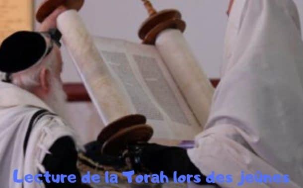 Lecture de la Torah lors des jeûnes Torat Hamoadim Ch 4