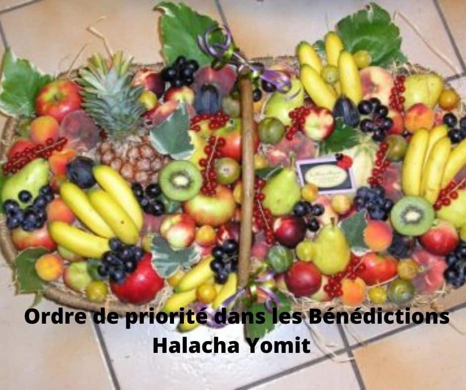 Ordre de priorité dans les Bénédictions - Halacha Yomit