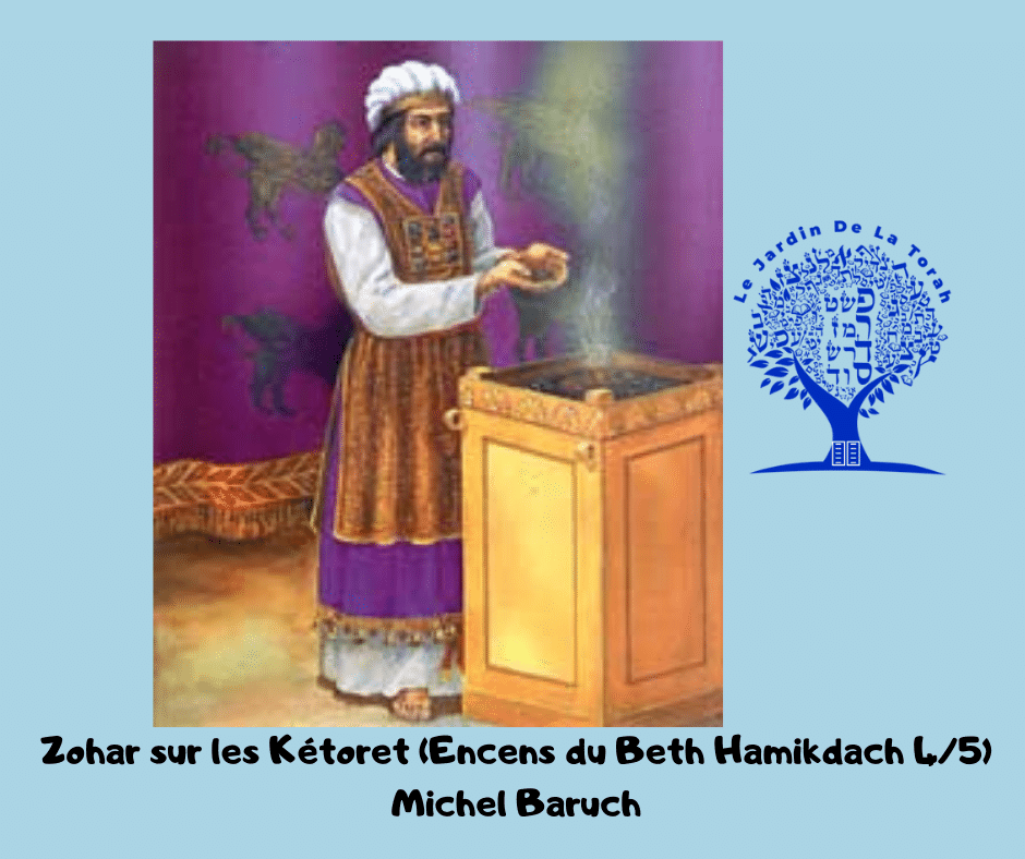 Kétoret selon le Zohar (Encens du Beth Hamikdach 4/5). Michel Baruch