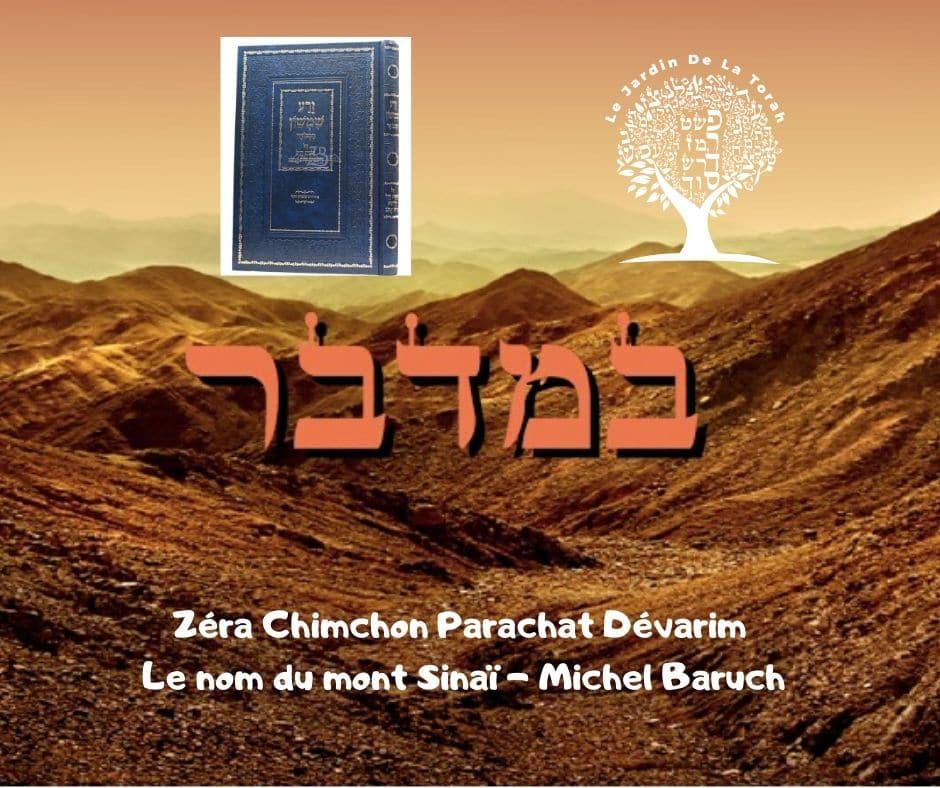 Zéra Chimchon Paracha Bamidbar Le nom du mont Sinaï Michel Baruch