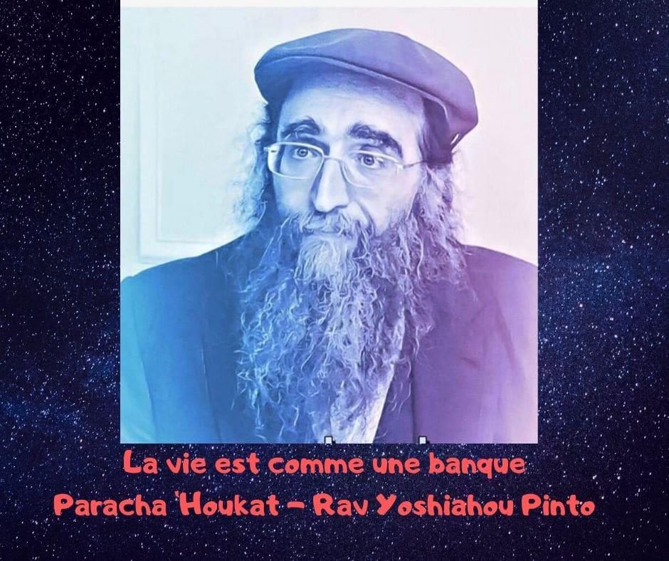 La vie est comme une banque - Rav Yoshiahou Pinto