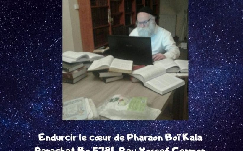 Endurcir le cœur de Pharaon Boï Kala Parachat Bo Rav Yossef Germon
